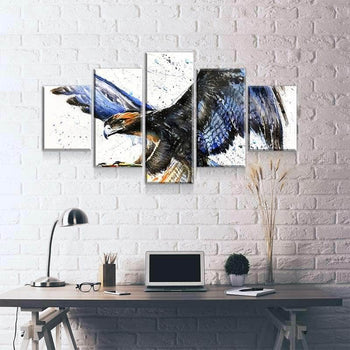 Eagle Watercolor Canvas Set