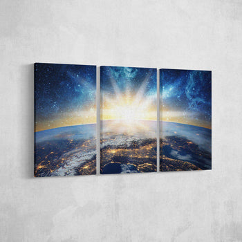 Earths Galaxy Canvas Set