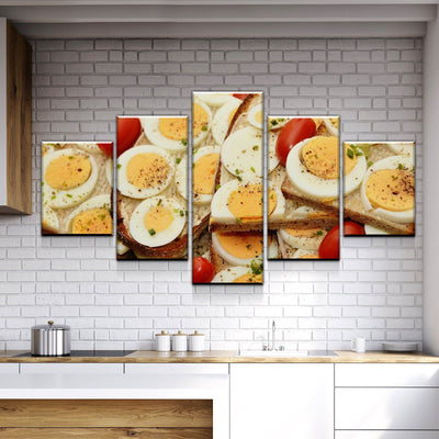 Eggs on Everything Canvas Set