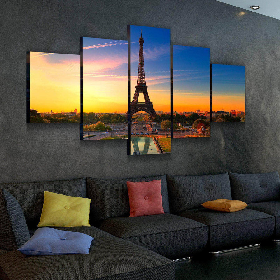 Eiffel Tower Sunset Canvas Set