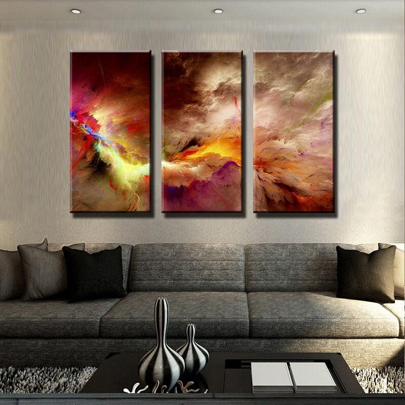Energetic Clouds Canvas Set