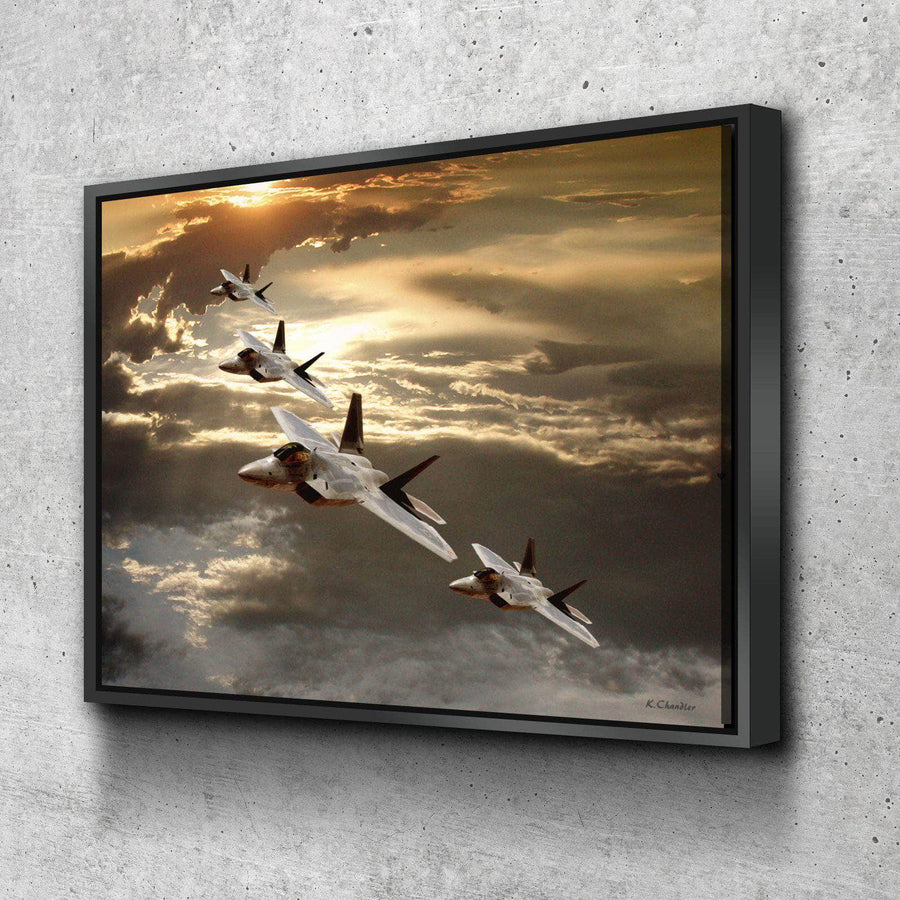 Fighter Jets Canvas Set
