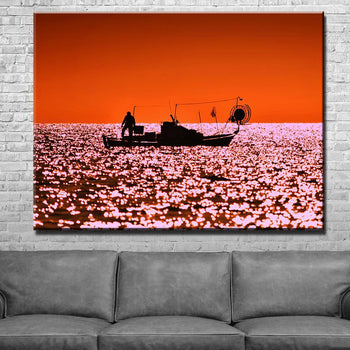 Fisherman's Sunset Canvas Set
