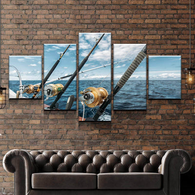 Fishing in the Sea Canvas Set