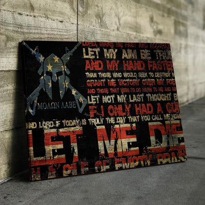 Gun Owner's Prayer Canvas Set