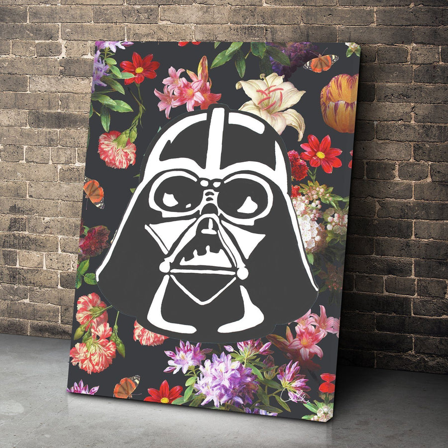 Floral Darth Vader Canvas Set