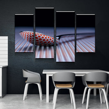 Digital Spoon Kitchen and Dining Room Wall Decor Canvas Set