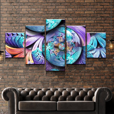 Flowers In Circle Canvas Set