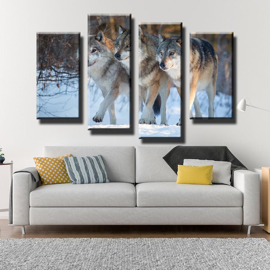 Wolf Pack Canvas Set