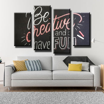 Be Creative Canvas Set