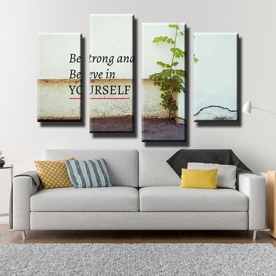 Be Strong and Believe Canvas Set