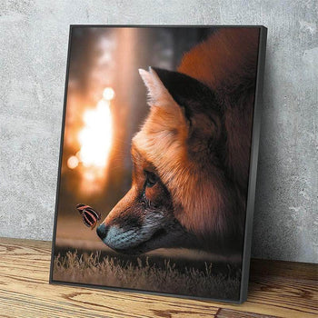 Fox and Butterfly Canvas Set