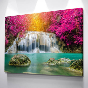 Fuchsia Falls Canvas Set