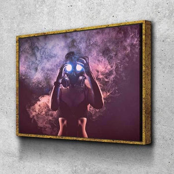 Gas Mask Inhalation Canvas Set