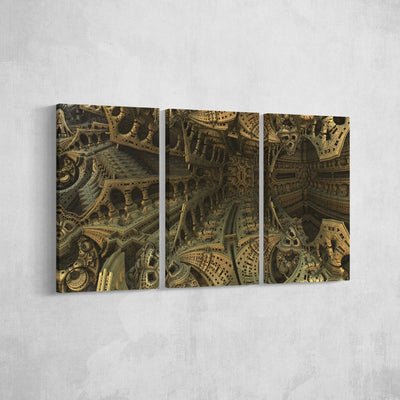 Geometric Archeticture Canvas Set