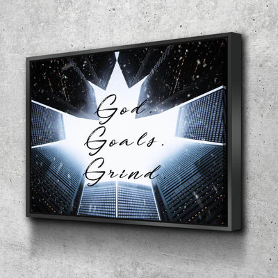 God Goals and Grind Canvas Set