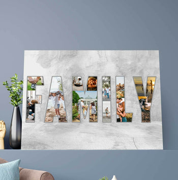 Family Forever Collage Custom Canvas Set