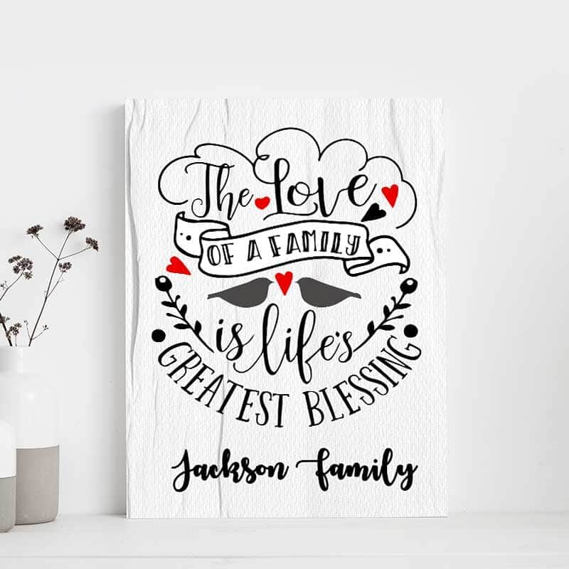 Family Love Blessings Custom Canvas Set