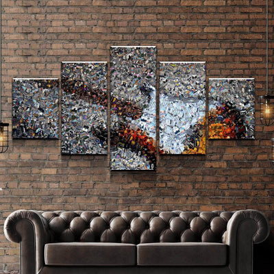 Guitar Collage Canvas Set