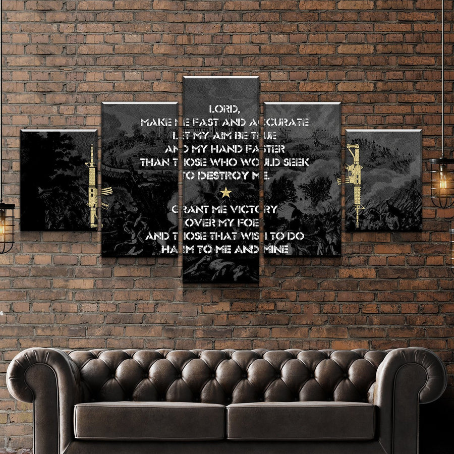 Gun Owner Prayer Black Edition Canvas Set