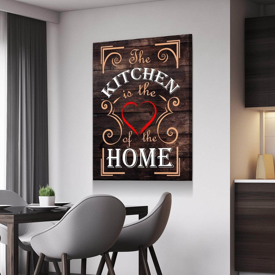 Heart of the Home Kitchen and Dining Room Wall Decor Canvas Set