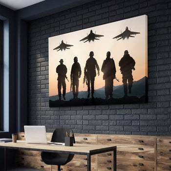 Heroes in Uniform Canvas Set