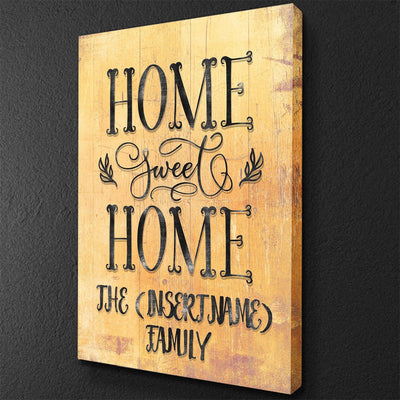 Home Sweet Home Vertical Personalized Canvas Set