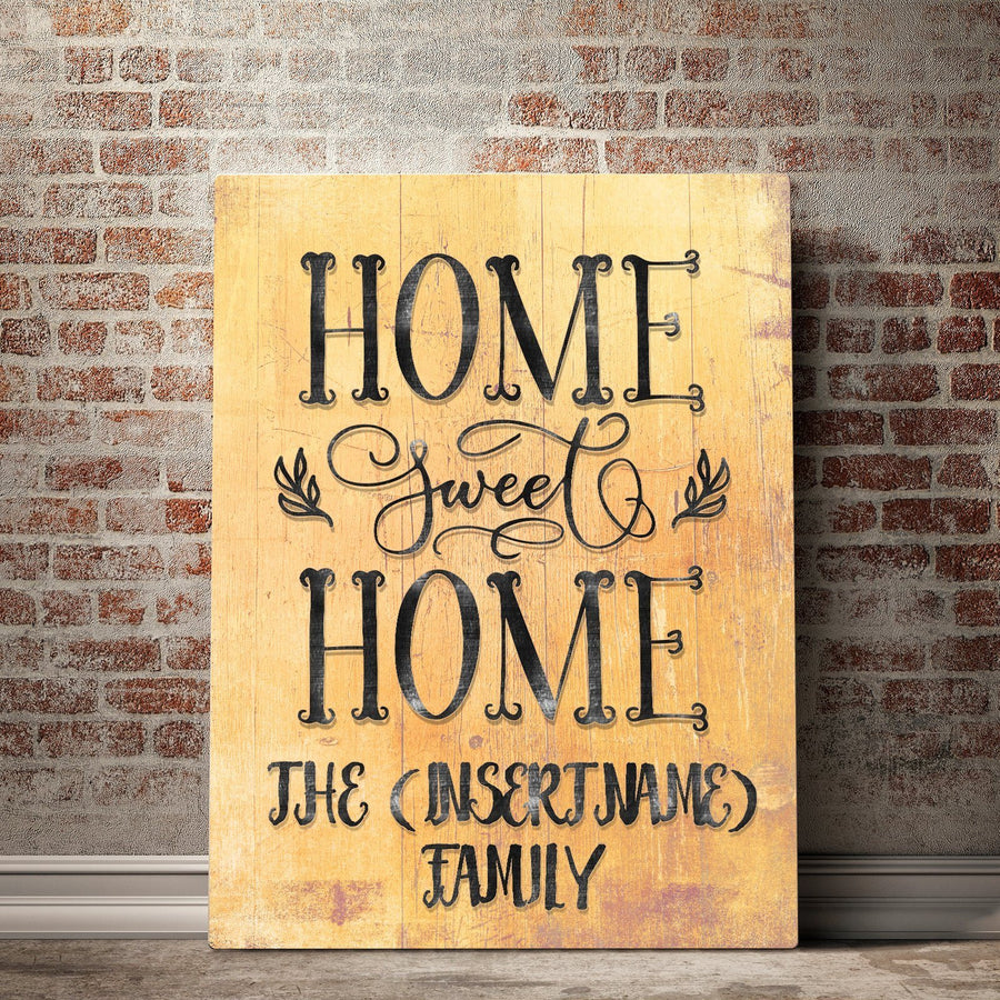 Custom Personalized Home Sweet Home Canvas Set