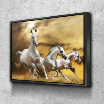 Horses Running Canvas Set