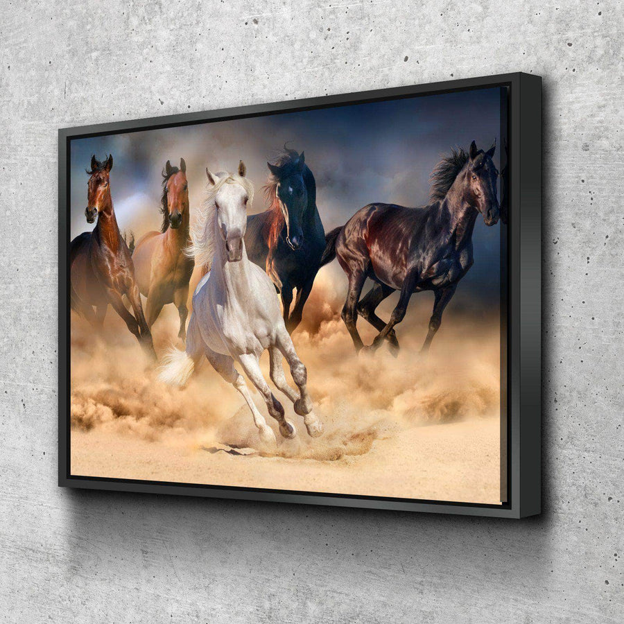 Horse Stampede Canvas Set
