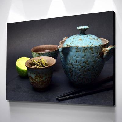 Hot Tea Kitchen and Dining Room Wall Decor Canvas Set