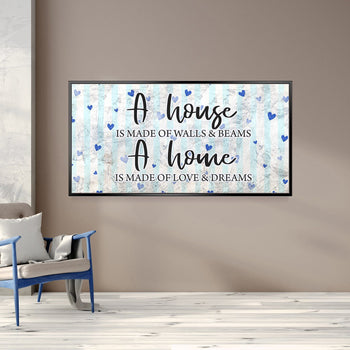 House of Love & Dreams Canvas Set