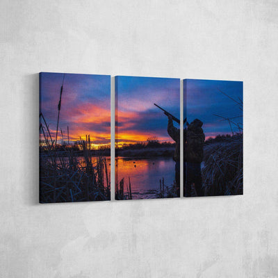 Hunting at Dusk Canvas Set