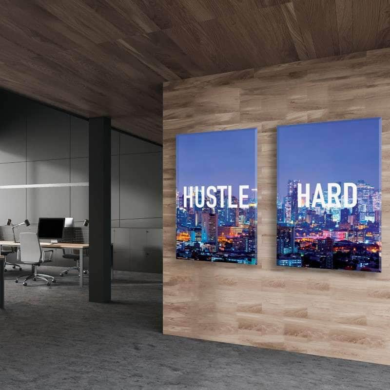 Hustle Hard 2 Piece Bundle Canvas Set
