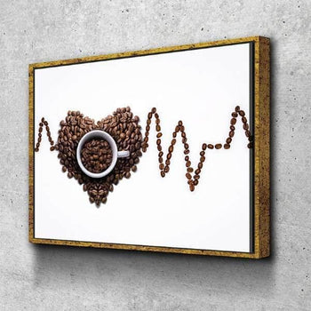 I Love Coffee Kitchen and Dining Room Wall Decor Canvas Set