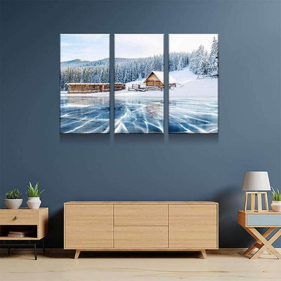 Ice Lake Cabin Canvas Set