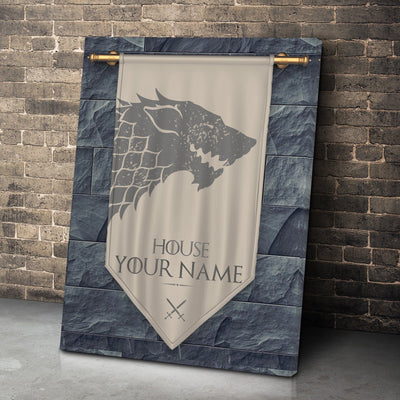 Kings of the North Personalized Canvas Set