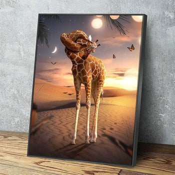 Knotted Giraffe Canvas Set