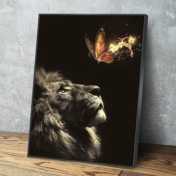 Lion and Butterfly Canvas Set