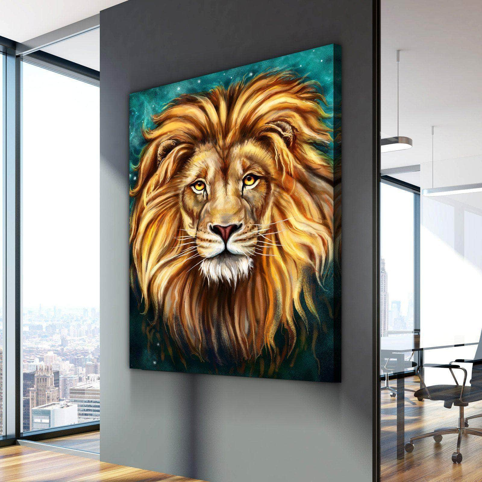 lion painting canvas set canvas freaks