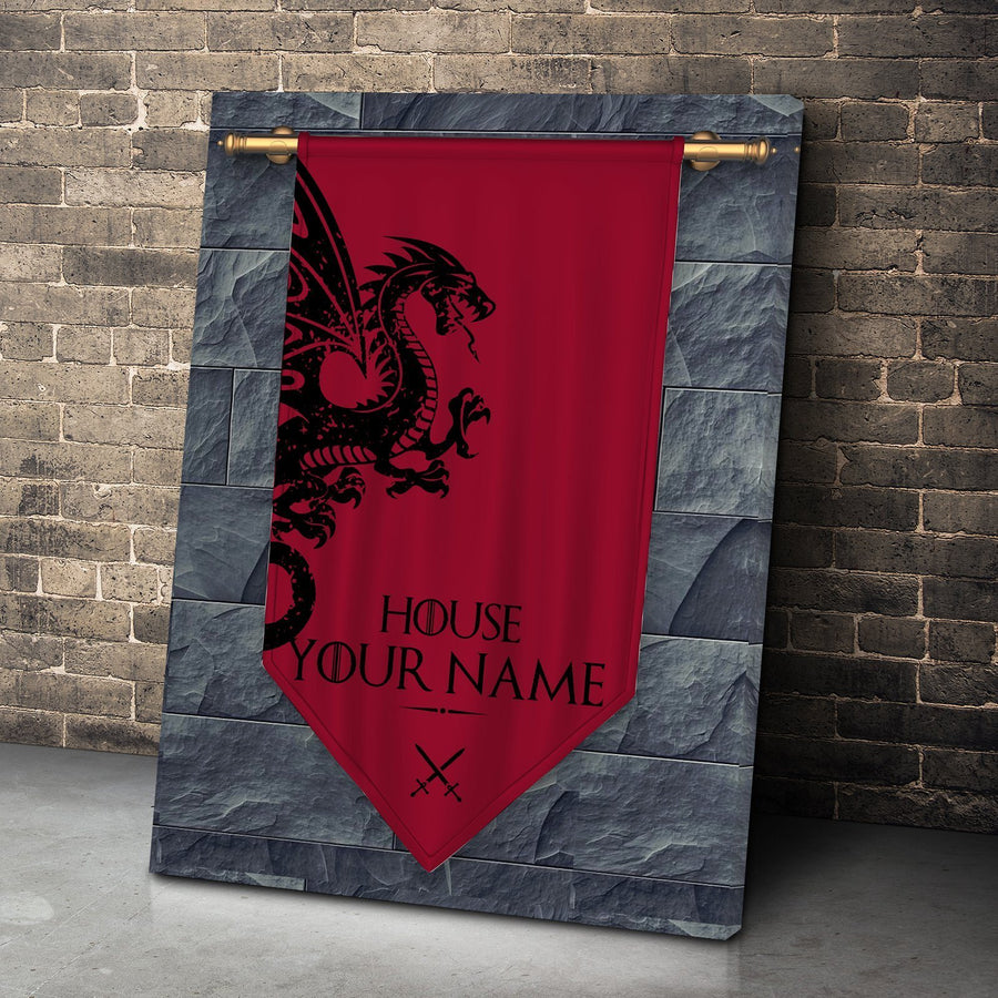 Lords of Dragonstone Personalized Canvas Set