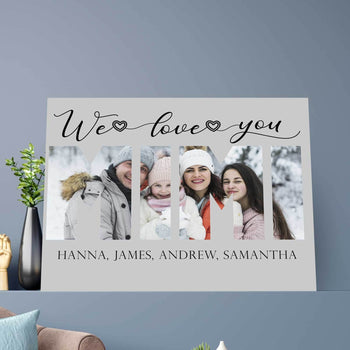 We Love You Mimi Custom Canvas Set