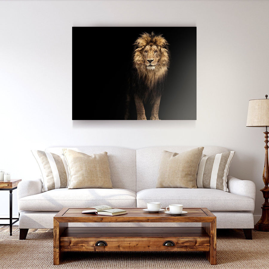 Majestic Lion Wooden Wall Decor