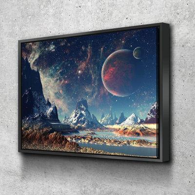 Mountains and Space Canvas Set