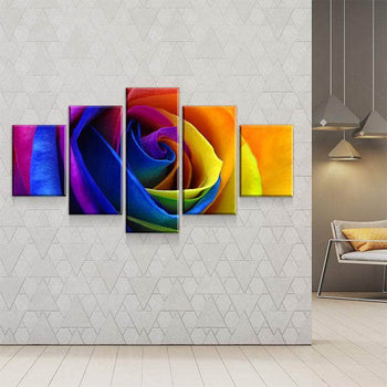Multicolor Rose Canvas Set