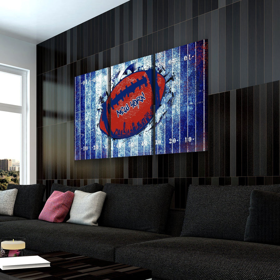 New York Football Canvas Set