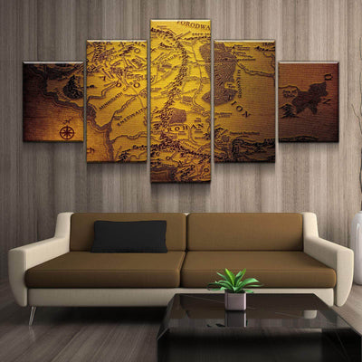 Map of Middle Earth Canvas Set   Canvas Freaks