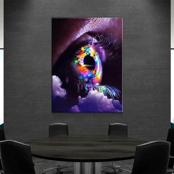 Neon Eye Canvas Set