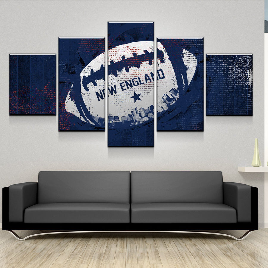 New England Football Canvas Set
