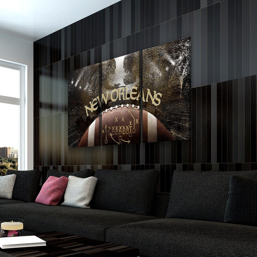 New Orleans Football Canvas Set